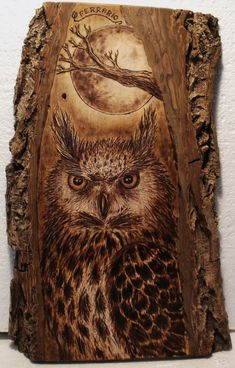 Almost as impressive as the owl is the wood itself.
