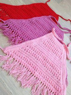 Items similar to Set of three crochet toddler top/ Red Pink Dark pink crochet halter top/ Baby crochet top/ Girl festival top/ Bohemian baby/ Fringel top on Etsy Crochet Summer Tops, Crochet Halter Tops, Crochet Crop Top, Crochet Lace, Crochet Bikini, Crochet Toddler, Baby Girl Crochet, Crochet For Kids, Crochet Ideas