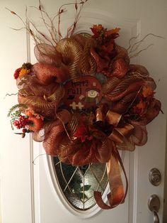 Thanksgiving wreath on Etsy, $80.00