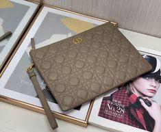 Christian Dior zippy clutch cannage lambskin leather handbag Dior Bags, Lambskin Leather, Louis Vuitton Monogram, Christian Dior, Leather Handbags, Clutches, Pattern, Dior Handbags, Leather Totes