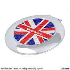 Personalized #Union #Jack #Flag Design #Mirror For #Makeup