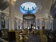 Grand dining room, The Savoy, London
