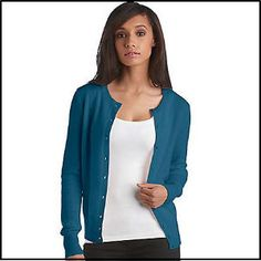 Lord & Taylor Cashmere Crewneck Cardigan at The Bay