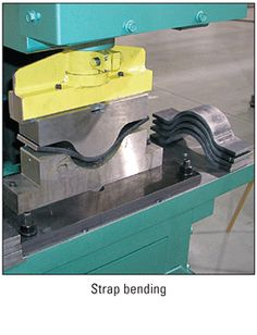 Strap Bending with Piranha Ironworker Tooling