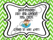 Fact and Opinion  from Kelly Avery, W. T. Lewis Elementary, Bossier City, Louisiana on TeachersNotebook.com (9 pages)  - Fact and Opinion, Task Cards