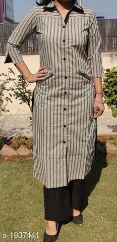 Aradhya Stunning Women's Kurta Sets Vol 8 Fabric: Kurti - Cotton/Rayon Slub, Pant - Cotton/Rayon Slub Sleeves: Sleeves Are Included. Simple Kurti Designs, Stylish Dress Designs, Kurta Designs Women, Salwar Designs, Kurti Designs Party Wear, Pakistani Fashion Casual, Pakistani Dress Design, Sharara, Churidar
