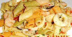 Fabulosa receta para Penne rigate coi frutti di mare. Una deliciosa receta de…