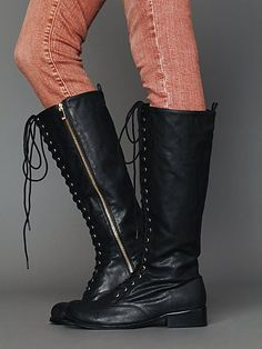 Corey Lace Vegan Boot http://www.freepeople.com/whats-new/corey-lace-vegan-boot/    These are fly