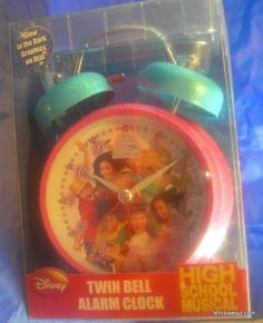 NEW DISNEY HIGH SCHOOL MUSICAL TWIN BELL ALARM CLOCK FREE SHIPPING