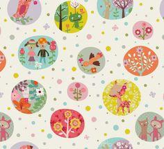 Bubbles Fabric by Mini labo.
