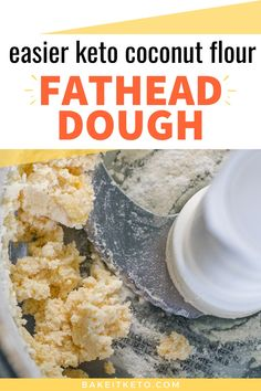 Easiest way to make keto fathead dough with coconut flour - use for pizza, cinnamon rolls, bagels, crackers, EVERYTHING! Keto Shrimp Recipes, Coconut Recipes, Low Carb Recipes, Cooking Recipes, Low Carb Flour, Low Carb Bread, Keto Bread, Bread Food, Bread Baking