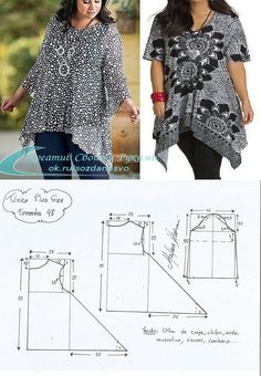 Sewing Class Love Sewing Sewing Patterns Free Sewing Tutorials Sewing Hacks Sewing Blouses Plus Size Sewing Blouse Patterns Clothing Patterns Tunic Sewing Patterns, Sewing Blouses, Tunic Pattern, Blouse Patterns, Clothing Patterns, Blouse Designs, Free Pattern, Blouse Styles, Crochet Pattern