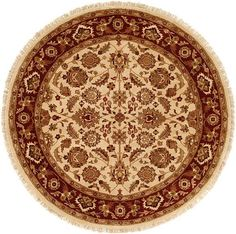 Bhalla Hand-Woven Ivory/Antique Rust Area Rug
