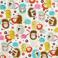 Michael Miller Hedgehog Meadow Soft toy pattern ideas???