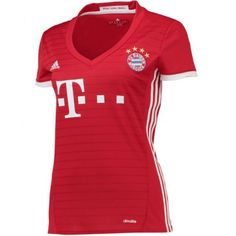 Bayern Munich adidas Women's Home Jersey - Red Maillot Bayern Munich, Adidas Women, Shopping, Dns, Cher, Messi, Anonymous, Public, Football