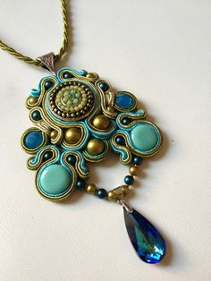 tutorial how to make soutache pendant