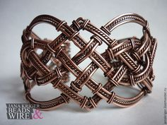"""Купить Браслет """"Кельтские мотивы"""". Медь. - коричневый, wire wrap, wire work, handmade"""