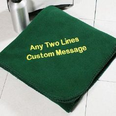 Embroidered Throw Blanket | Personalized Message Fleece Blanket