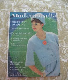 Vintage Mademoiselle Magazine January 1961 Spring by SewHallie, $12.00