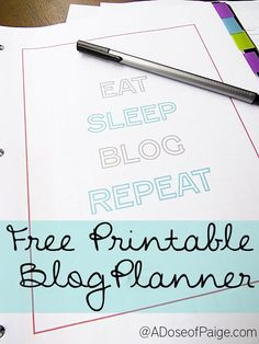 Free Printable Blog Planner! #productivity Productivity Tip #productive #productivity Productivity Tip #productive