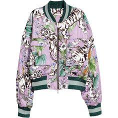 Quiltet bomberjakke 599,- ($70) ❤ liked on Polyvore featuring outerwear, jackets, bomber jackets, coats & jackets, h&m, white jacket, bomber style jacket, white flight jacket and blouson jacket