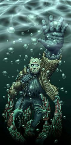 JASON VOORHEES UNDER THE LAKE