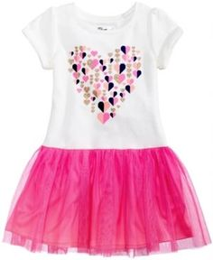 Epic Threads Heart-Print Tutu Dress, Toddler Girls (2T-5T), Created for Macy's - Ivory/Cream 3T