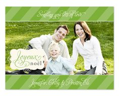 Noel Stripes holiday card
