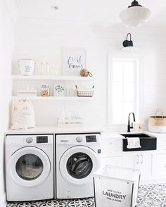 Laundry can be fun! Check out our tile in this beautiful laundry room on…