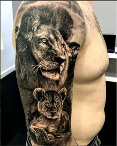 50 eye-catching lion tattoos that make you fancy ink - hyper-realistic lion . - 50 eye-catching lion tattoos that make you want to ink – hyper-realistic lion tattoo © SEVEN TAT - Lion Cub Tattoo, Cubs Tattoo, Lion Head Tattoos, Mens Lion Tattoo, Lion Tattoo Design, Leo Tattoos, Baby Tattoos, Body Art Tattoos, Tattoos For Guys