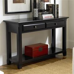 cobble hill collection by riverside sofa table with 2 drawers