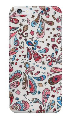 Paisley 03 by gabiphillippe Iphone Wallet, Iphone Cases, Paisley, Throw Pillows, Mugs, Canvas, Shop, Stuff To Buy, Art