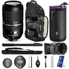 Tamron AF 70-300mm f/4.0-5.6 SP Di VC USD XLD Lens for NIKON DSLR Cameras + BACKPACK & FREE ACCESSORIES
