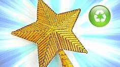 En este tutorial te enseño a hacer una elegante estrella para la punta del árbol de Navidad con material reciclado, fácil y económica de hacer. Más tutoriale...
