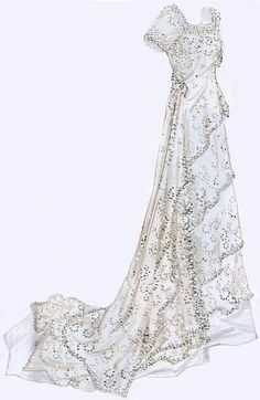 illustration of the Rose's Titanic white dress. Beautiful!