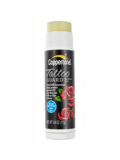 A must. Now it's hot outside and everyone is showing more skin, this wonderful Coppertone tattoo guard sunscreen stick SPF 50+ allows you to bare your tattoos without fear of blurring or fading. great idea!