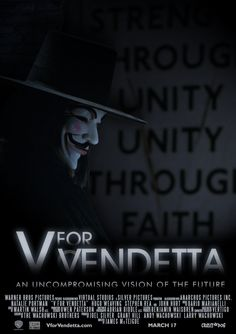 V for Vendetta - 2005 Film Poster by CrustyDog