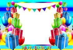 ® Colección de Gifs ®: MARCOS PARA FOTOS DE CUMPLEAÑOS Happy Birthday Clip Art, Happy Birthday Wishes Photos, Birthday Photo Frame, Happy Birthday Cake Images, Birthday Clips, Birthday Frames, Birthday Greetings, Birthday Blessings, Birthday Invitations