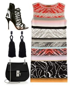 """Stripes"" by cherieaustin ❤ liked on Polyvore featuring Chloé, Oscar de la Renta, Sophia Webster, Missoni, oscardelarenta, chloe, missoni, sophiawebster and odlr"
