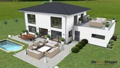 Häuser City villa Zucchini: A Power House of Nutrition Dating back to 7000 B. Basement Guest Rooms, Basement House Plans, Ranch House Plans, Craftsman House Plans, Modern House Plans, Modern House Design, Model Architecture, Architecture Design Concept, Affordable House Plans