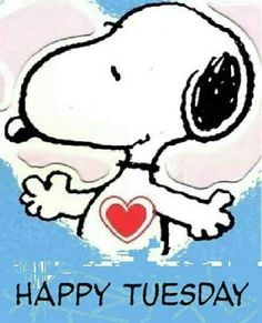 Weekend Quotes : Happy Tuesday Snoopy - Quotes Sayings Peanuts Cartoon, Peanuts Snoopy, Snoopy Love, Snoopy And Woodstock, Good Morning Good Night, Good Night Quotes, Minions, Funny Minion, Tuesday Greetings