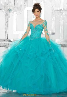 Pretty quinceanera mori lee vizcaya dresses, 15 dresses, and vestidos de quinceanera. We have turquoise quinceanera dresses, pink 15 dresses, and custom Quinceanera Dresses! Tulle Ball Gown, Ball Gowns Prom, Ball Dresses, Prom Dresses, Satin Tulle, Party Gowns, Dress Prom, Evening Dresses, Sweet 16 Dresses