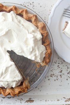 Chocolate Pudding Pie (Grain-Free, Paleo) via DeliciouslyOrganic.net