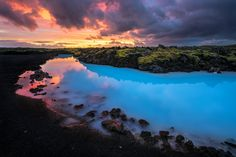 https://flic.kr/p/HfsPm4 | blue lagoon | Sunset at the blue lagoon Iceland The Blue Lagoon geothermal area is one of the most visited attractions in Iceland. It is located in a lava field in Grindavík on the Reykjanes Peninsula, southwestern Iceland.