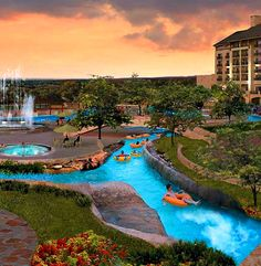 The River Bluffs Water Experience at the JW Marriott San Antonio Hill Country Resort & Spa in Texas!