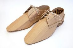 cardboard shoes. awesome