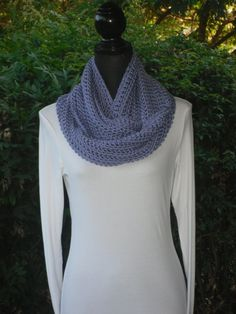 A personal favorite from my Etsy shop https://www.etsy.com/listing/104835249/infinity-eternity-cowl-neck-warmer-loop