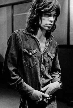 "Mick during the early 70's making of the ""Exile"" album."