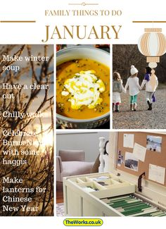 A few ideas of new things to do as a family in January. Check out the blog to put more dates in your diary for the whole year. #parenthacks