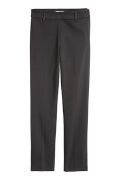 Ankle-length cigarette trousers in a stretch weave with a regular waist, concealed zip in one side, fake pockets at the back and tapered legs with slits at H&m Sale, Cigarette Trousers, Best Deals Online, Black Pants, Fashion Online, Black Women, Style Me, Pajama Pants, Sweatpants